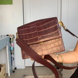 JW PEI brown croc purse